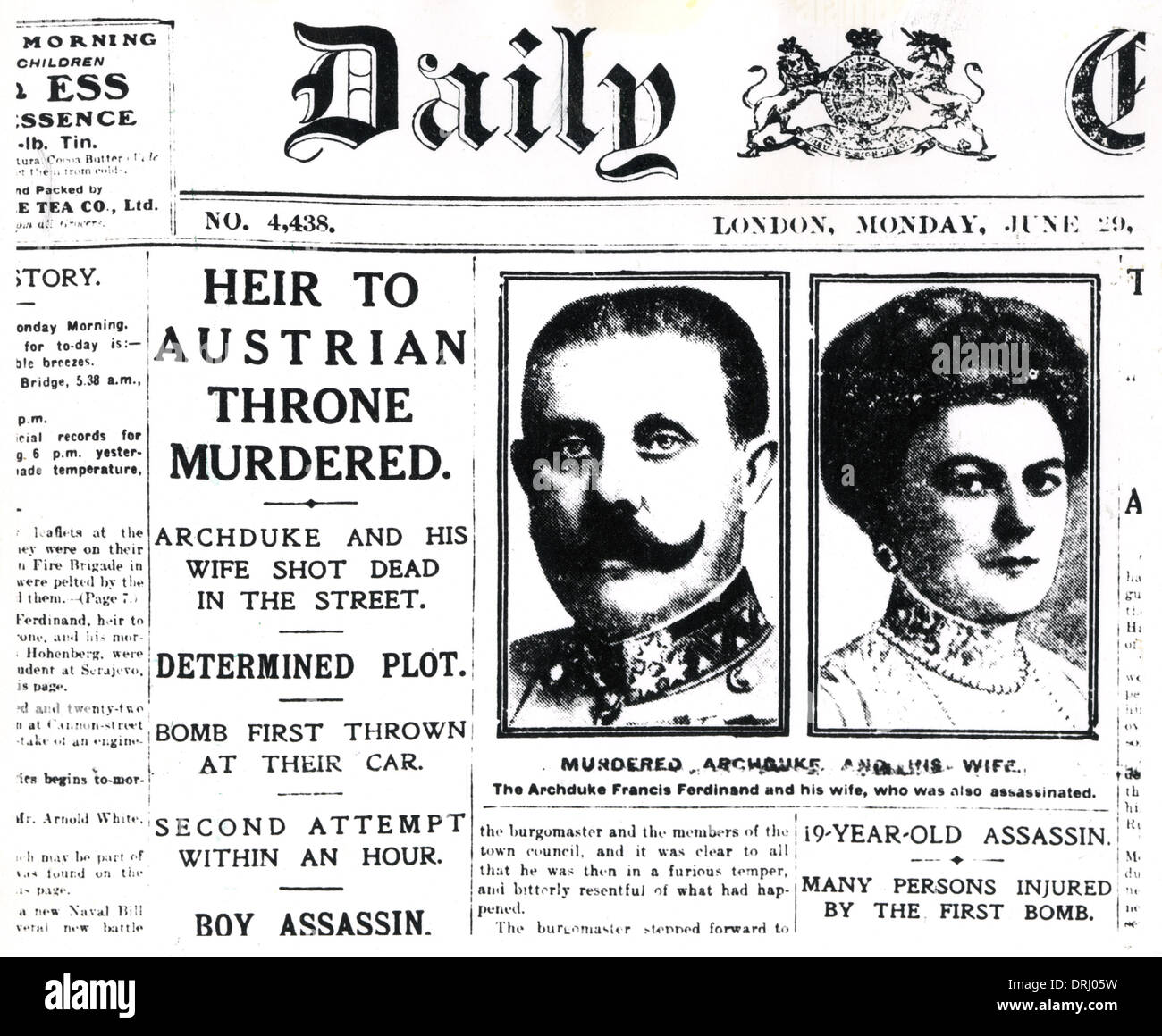 Daily Chronicle Archduke Franz Ferdinand And His Wife