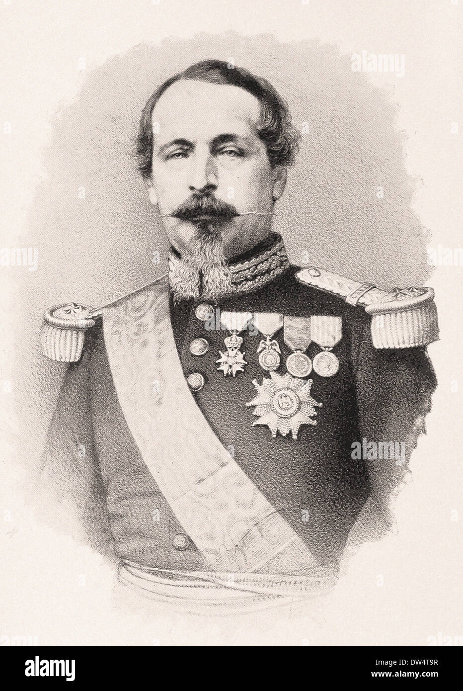 https www alamy com portrait of french emperor napolon iii american engraving xix th century image67104403 html