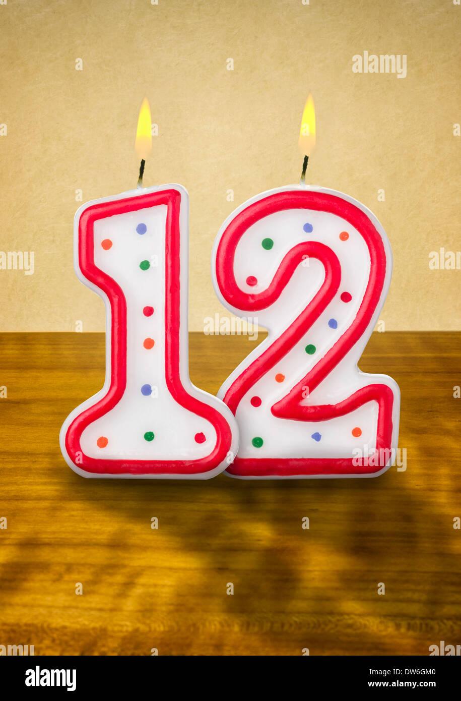 Birthday 12th Cake Cartoon
