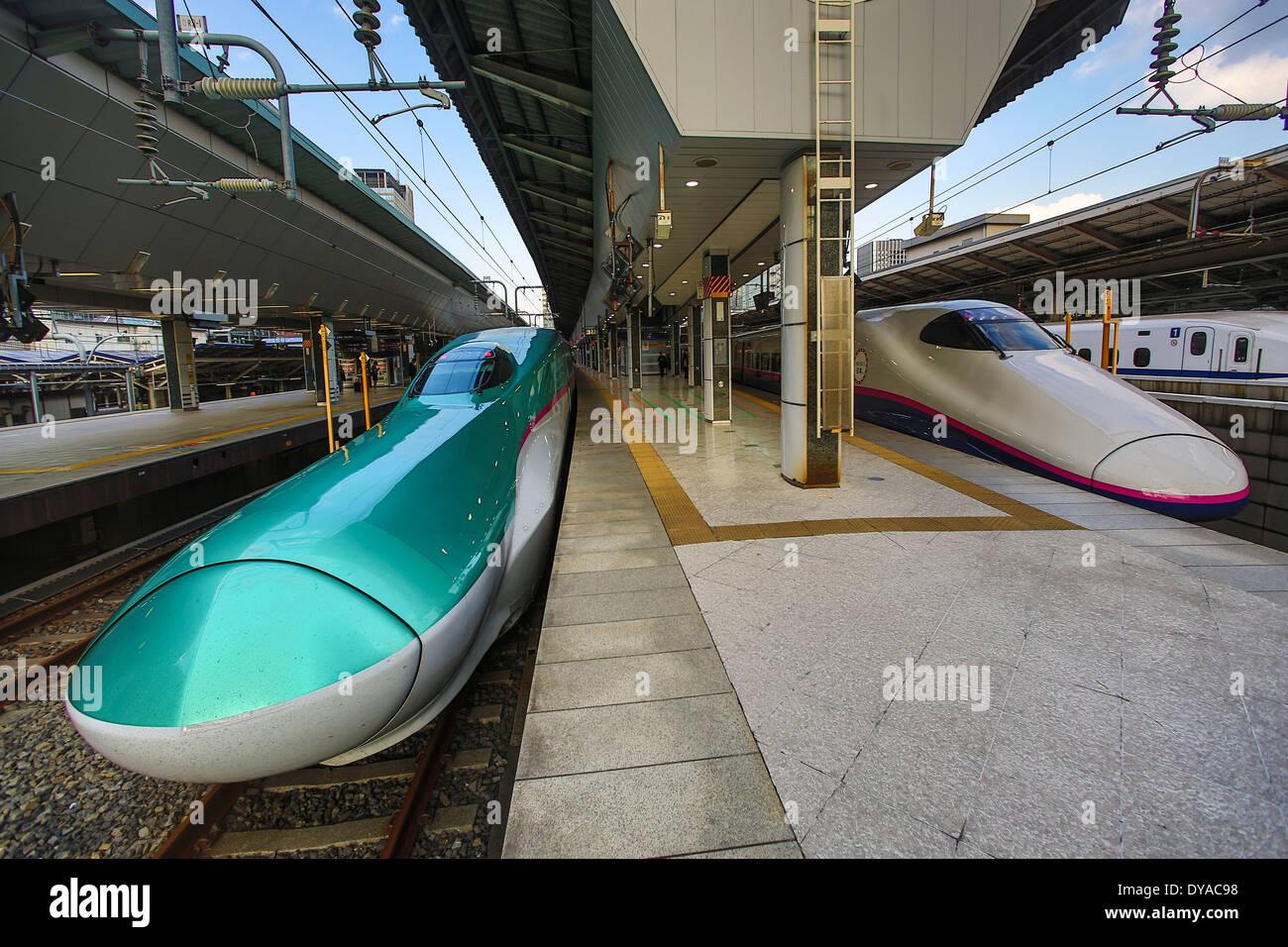 Japan Asia Tokyo Hayabusa Bullet Bullet Train High