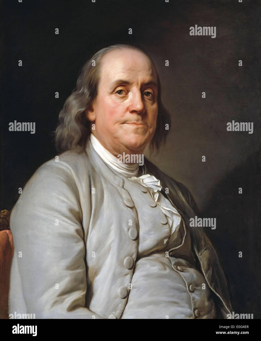 Benjamin Franklin Ben Franklin Portrait Painting By Joseph