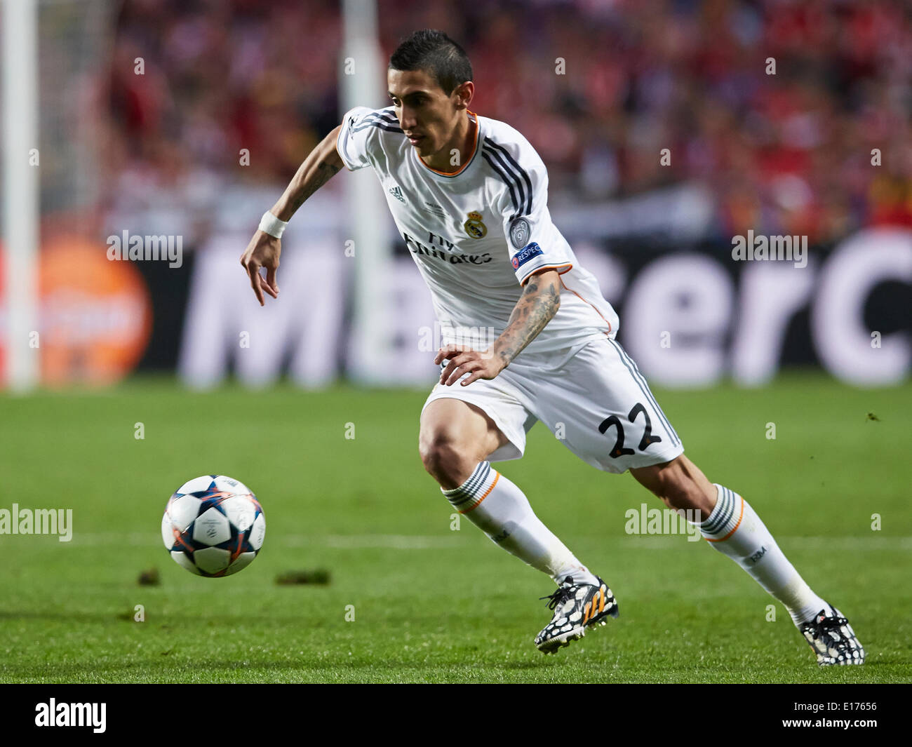 https www alamy com lisbon portugal 24th may 2014 midfielder angel di maria of real madrid image69614642 html