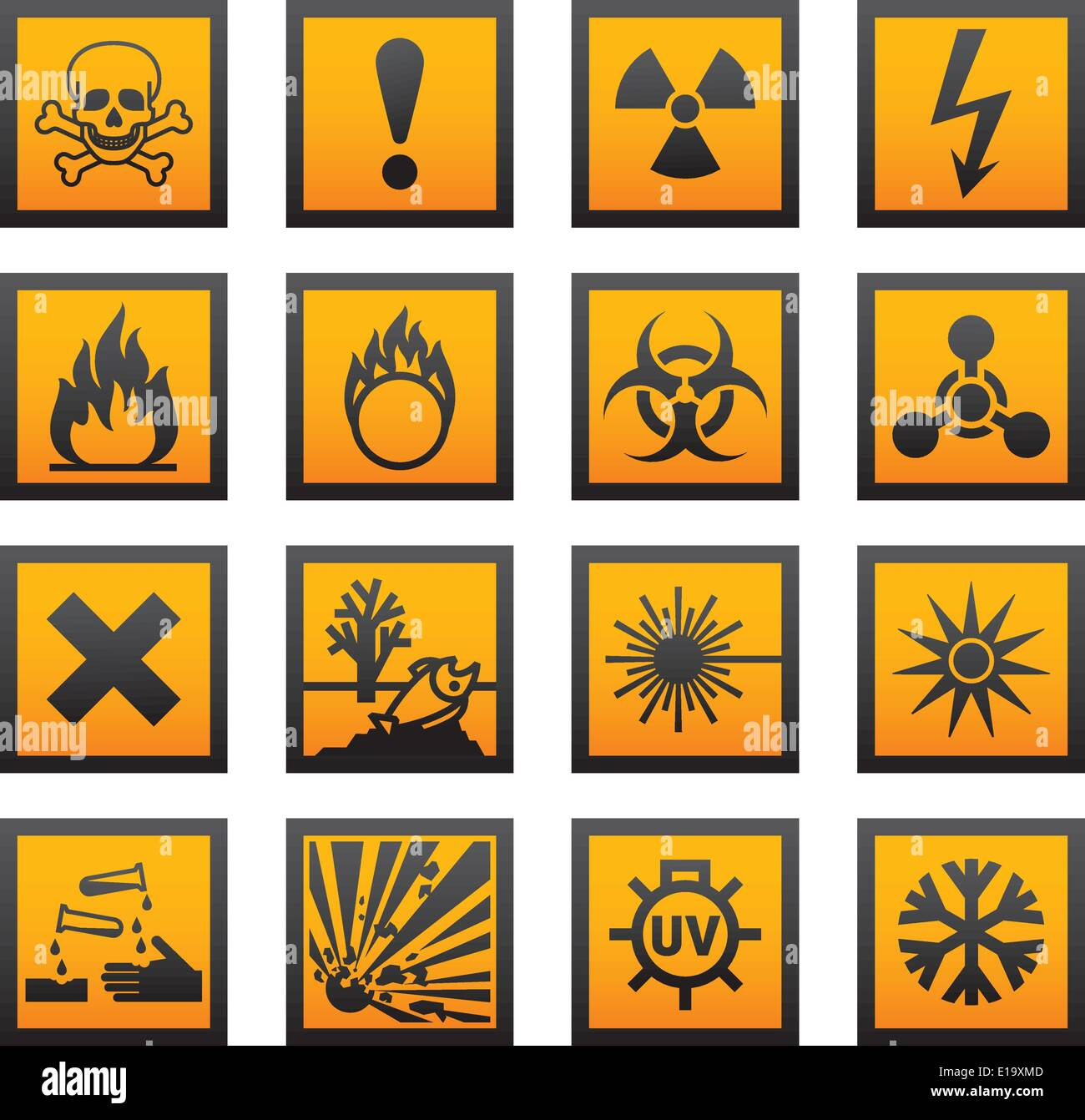 European Hazard Symbols Stock Vector Art Amp Illustration