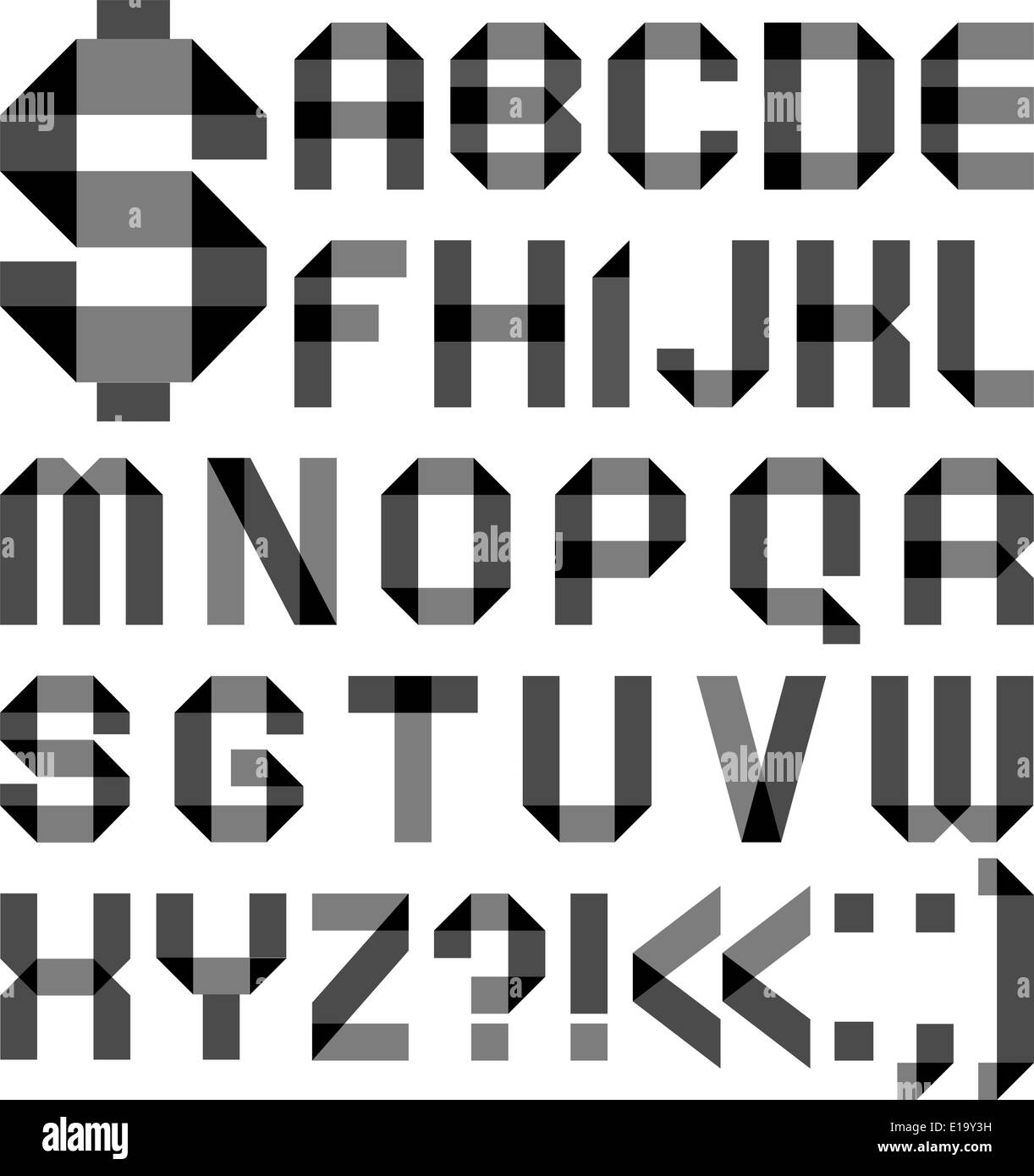 Alphabet Letters Black And White Stock Photos Amp Images