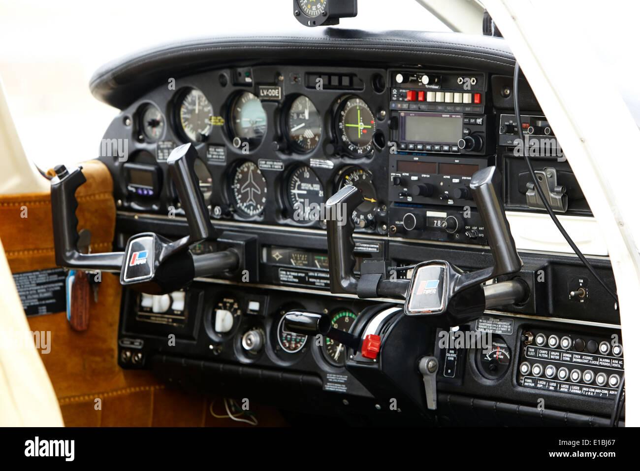 Airplane Instrument Panel Layout