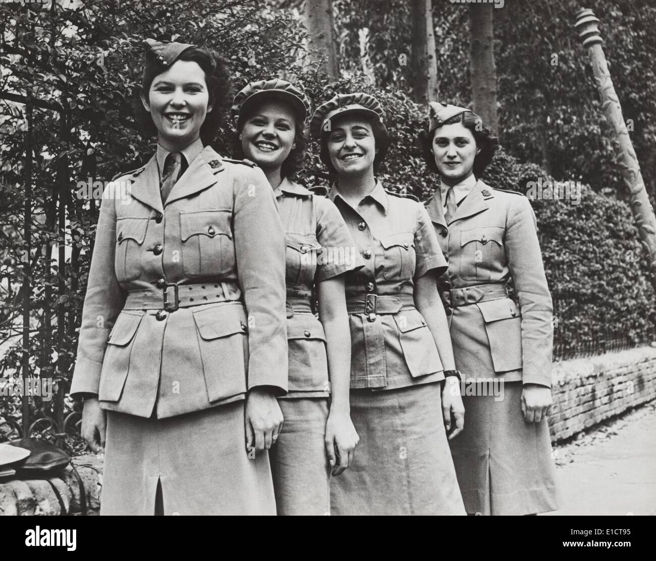 Uniformed Women Of The British Military Services During