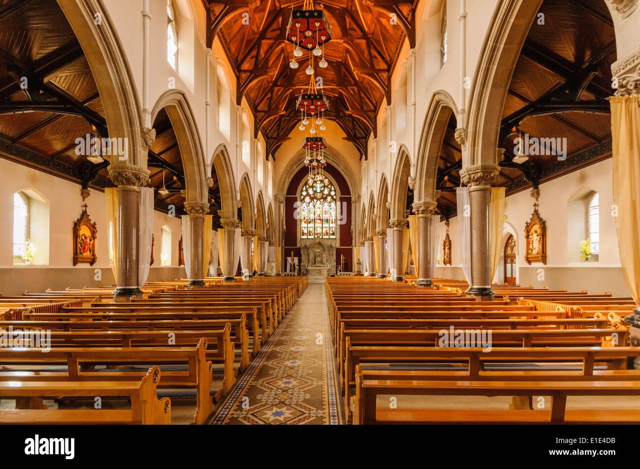 Inside A Roman Catholic Church Omagh Northern Ireland