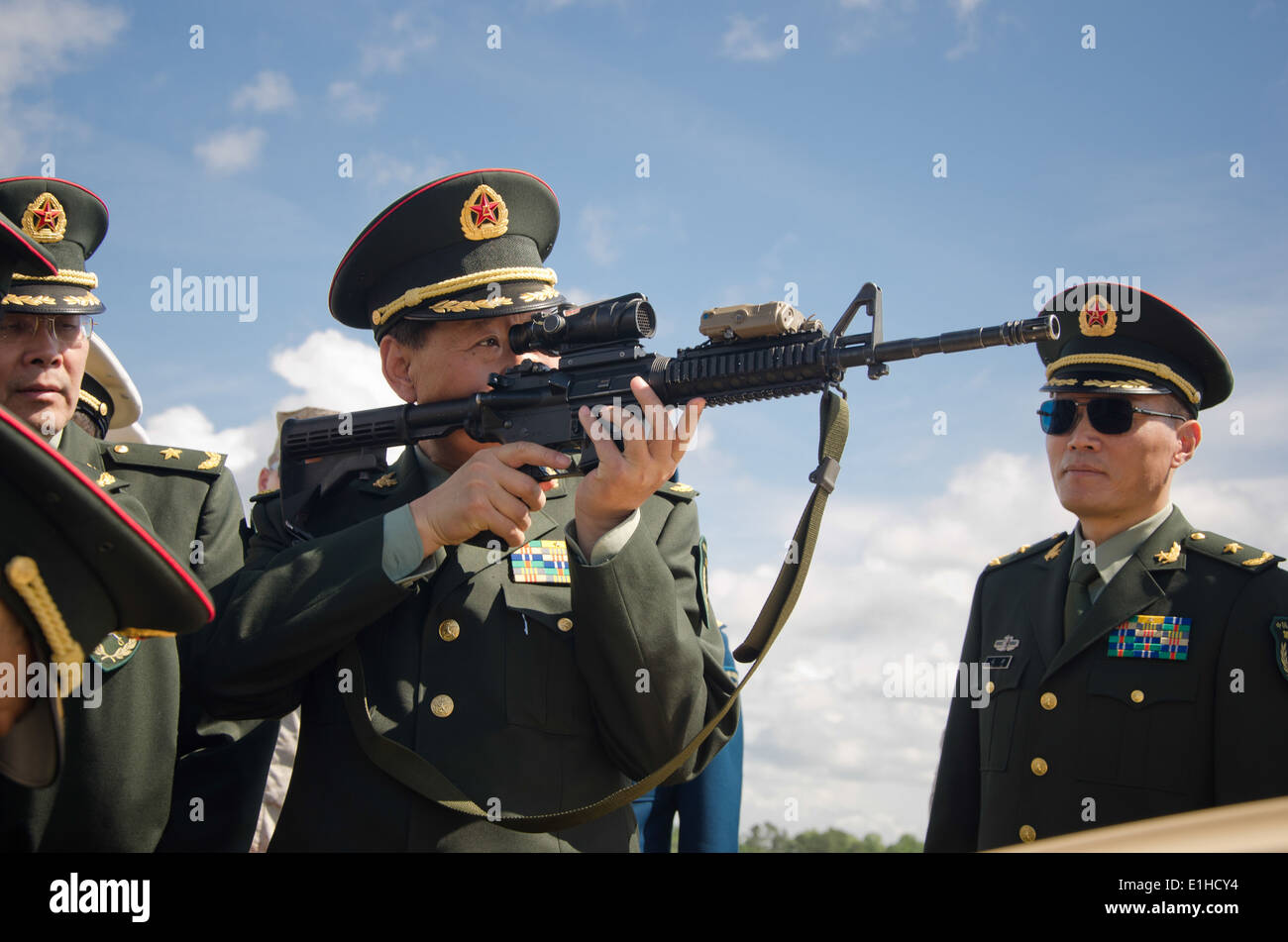 A Chinese General Officer Visiting Marine Corps Base Camp Lejeune Stock Photo Royalty Free