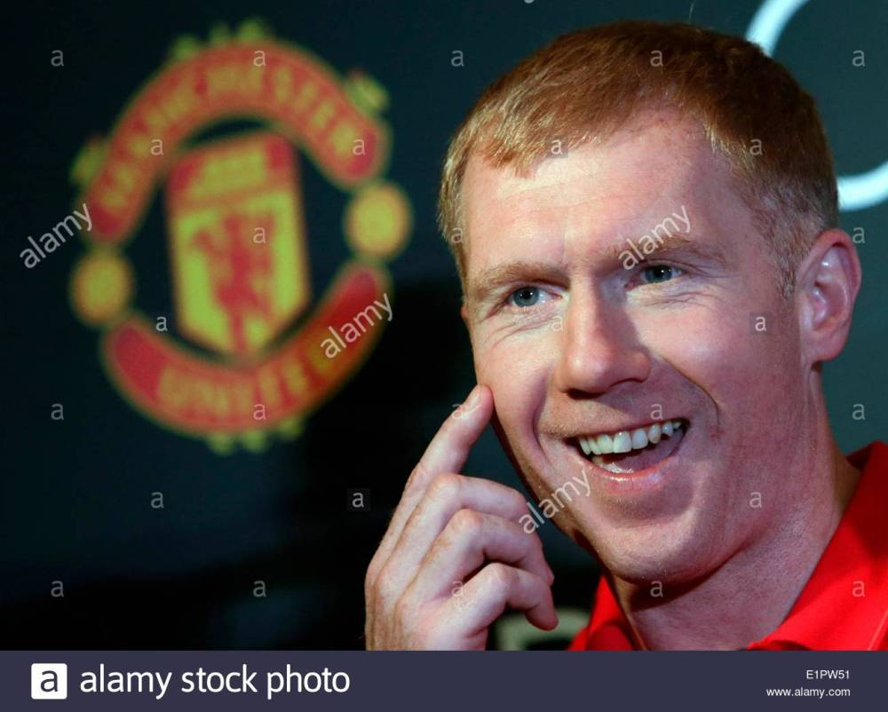 Image result for PAul scholes in a press conference images