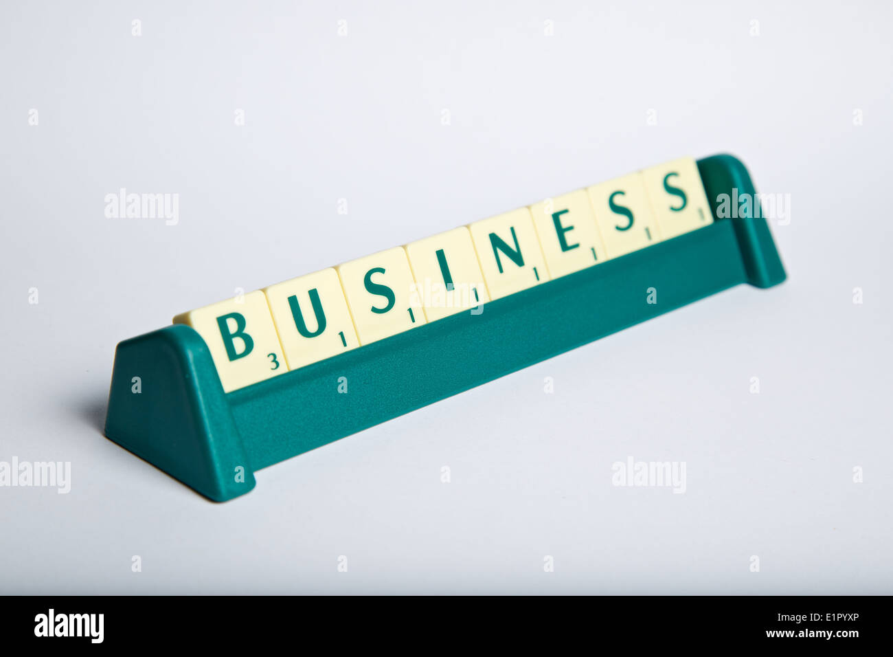 https www alamy com the word business in scrabble letters on a letter rack image69960990 html