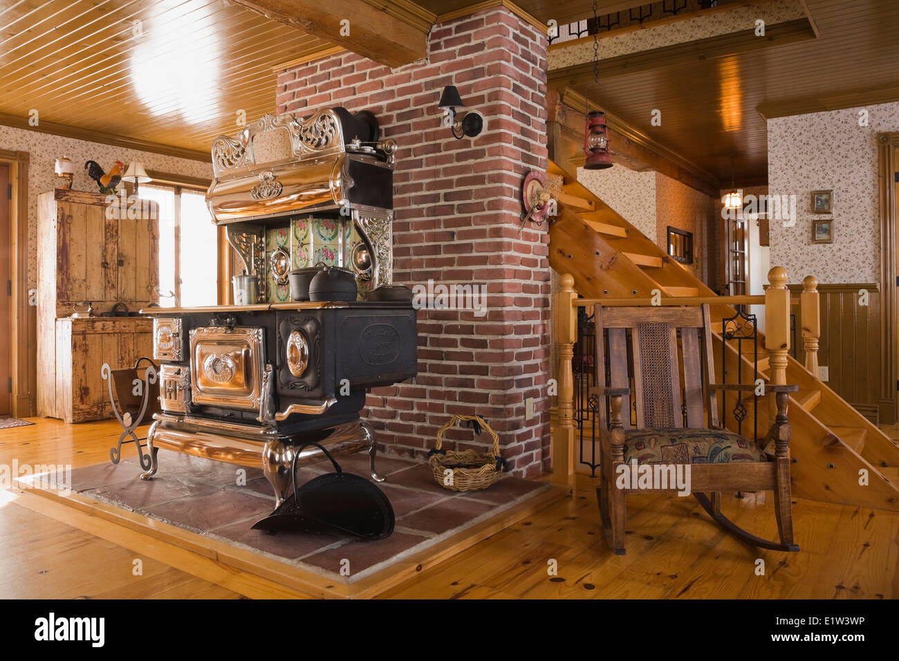 Old Legare S Rural Antique Wood Stove In The Living Room A