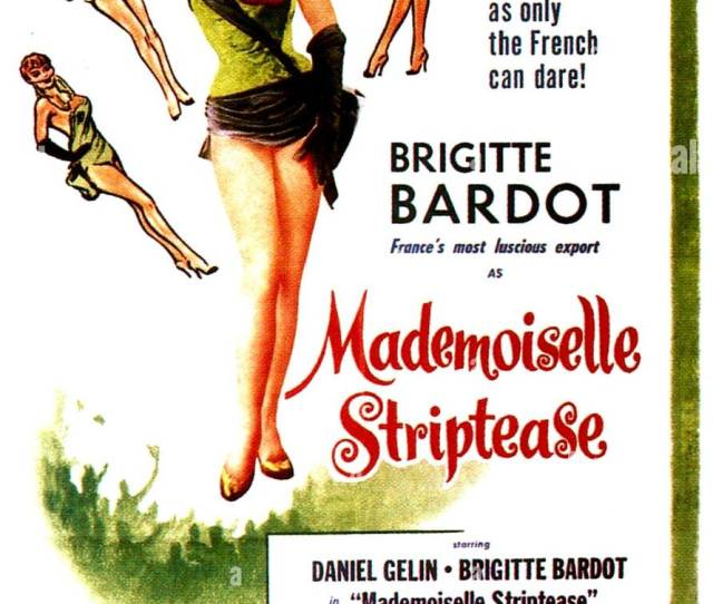 Mademoiselle Striptease French Cinema Poster Art Brigitte Bardot