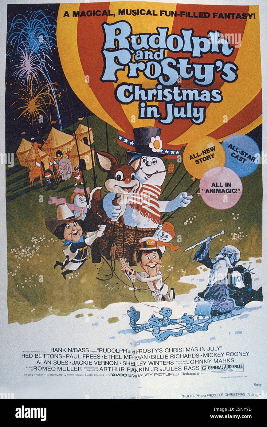 RUDOLPH AND FROSTYS CHRISTMAS IN JULY US Poster In