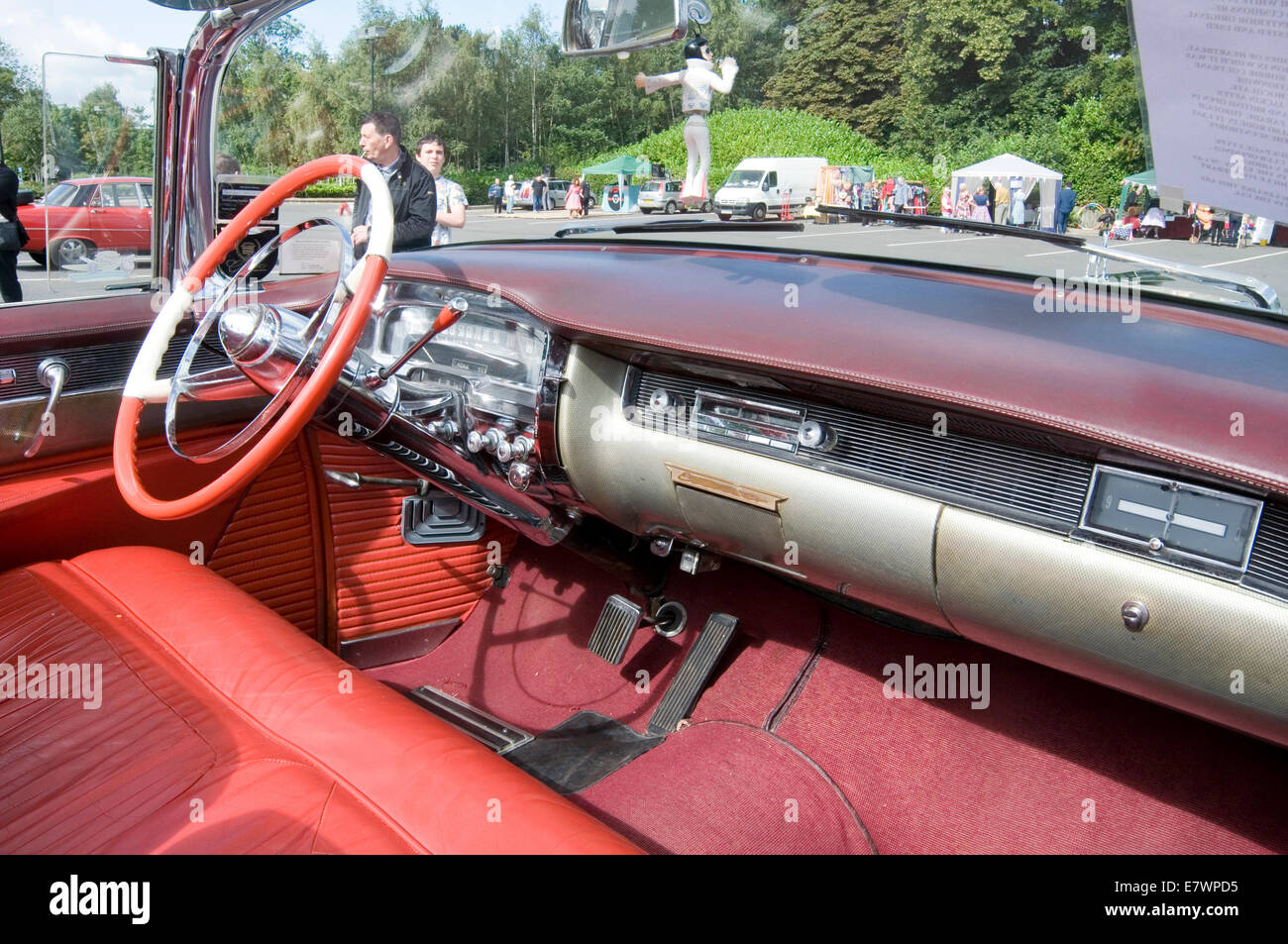 cadillac car cars interior softtop soft top tops convertible inside     cadillac car cars interior softtop soft top tops convertible inside  convertibles fifties 1954 classic american big steering whee