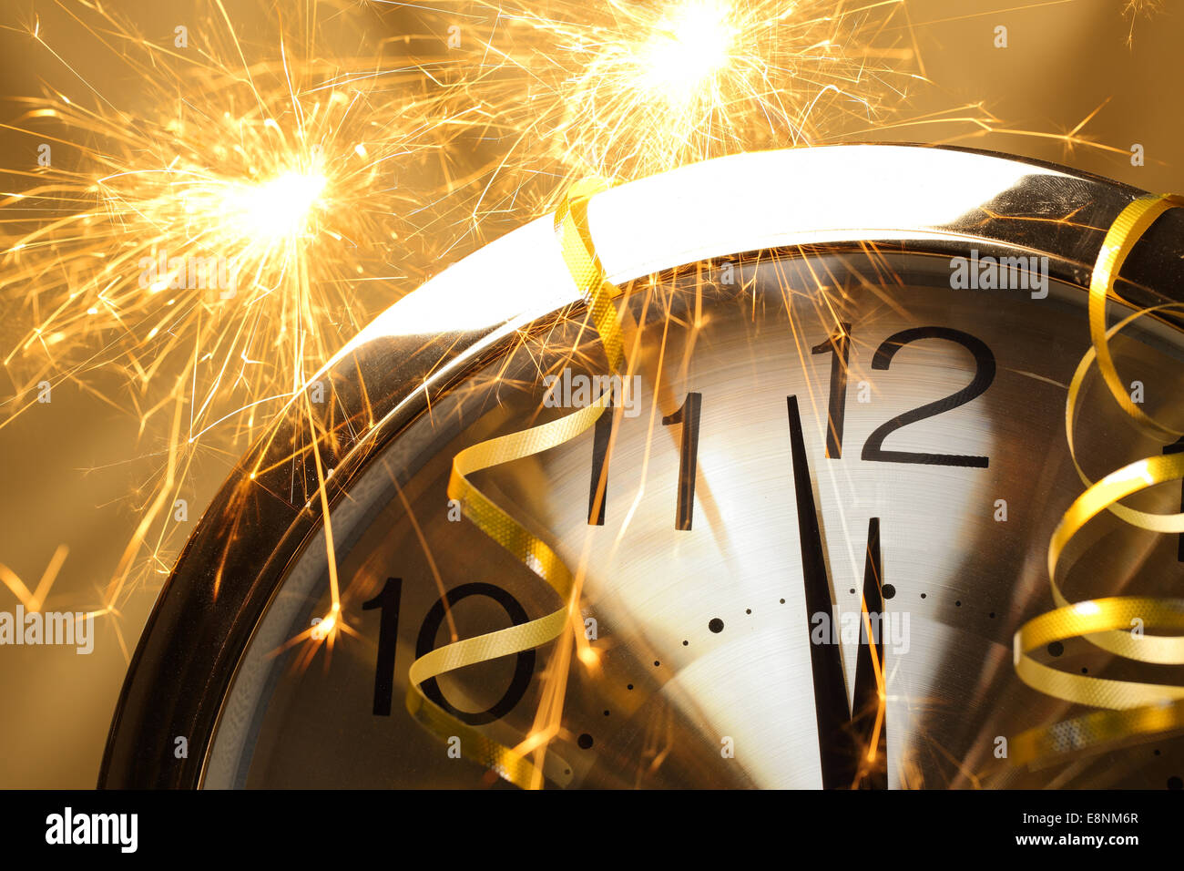 New year clock with fireworks Stock Photo  74235583   Alamy New year clock with fireworks