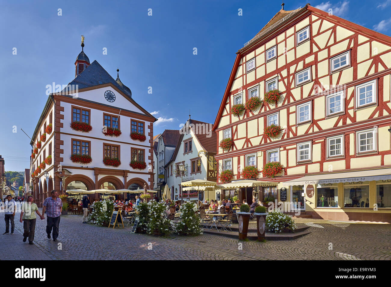 City Hall In The Old Town, Lohr Am Main, Bavaria, Germany