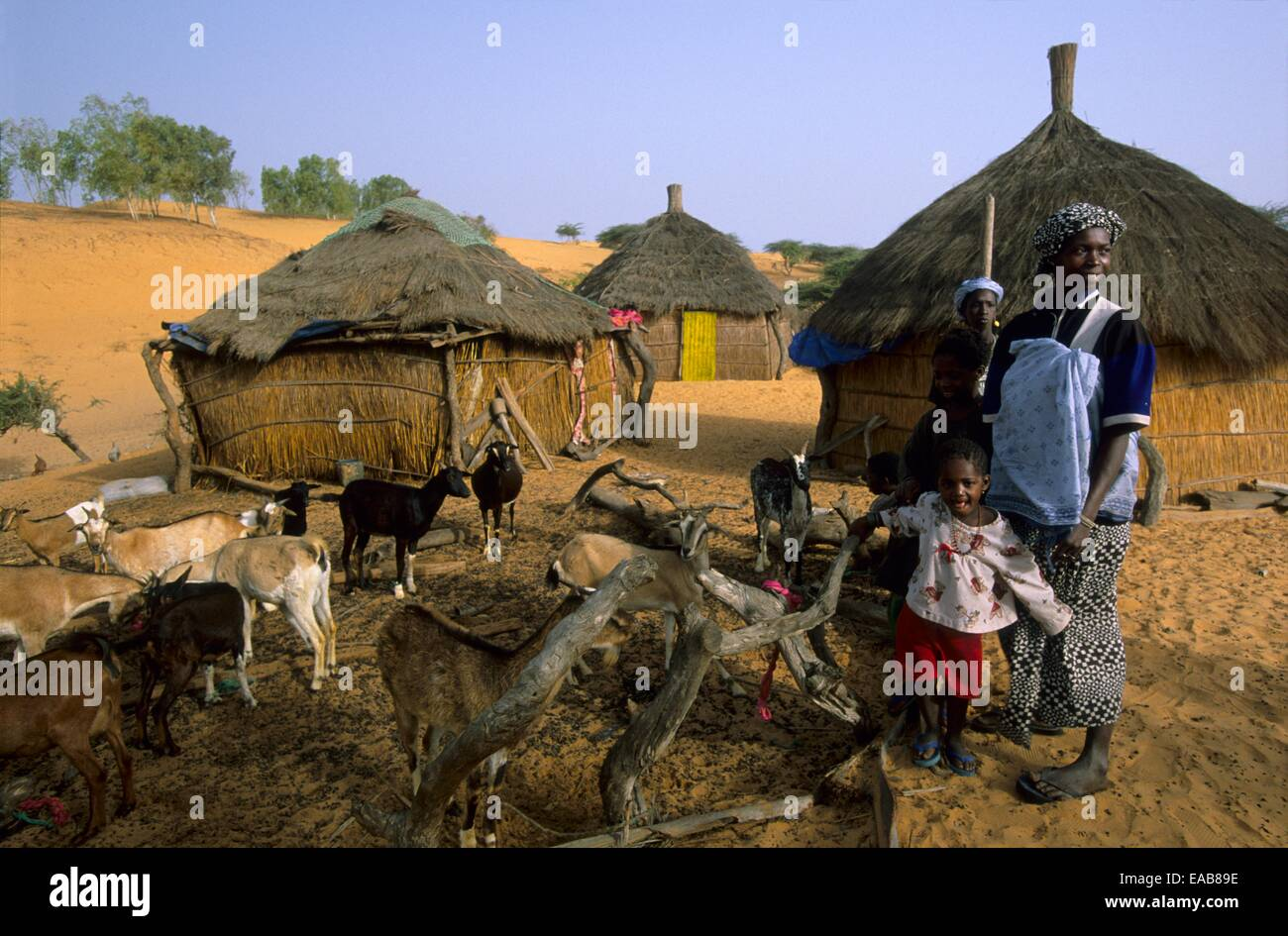 Africa Villages Black
