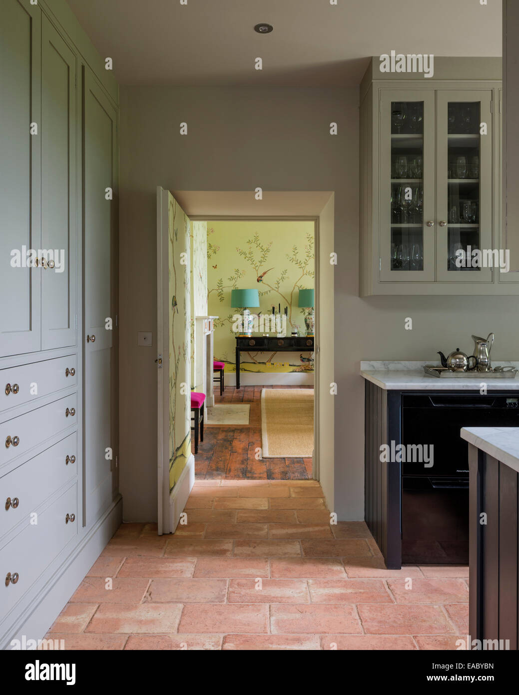 https www alamy com stock photo antique french floor tiles in country kitchen 75251001 html