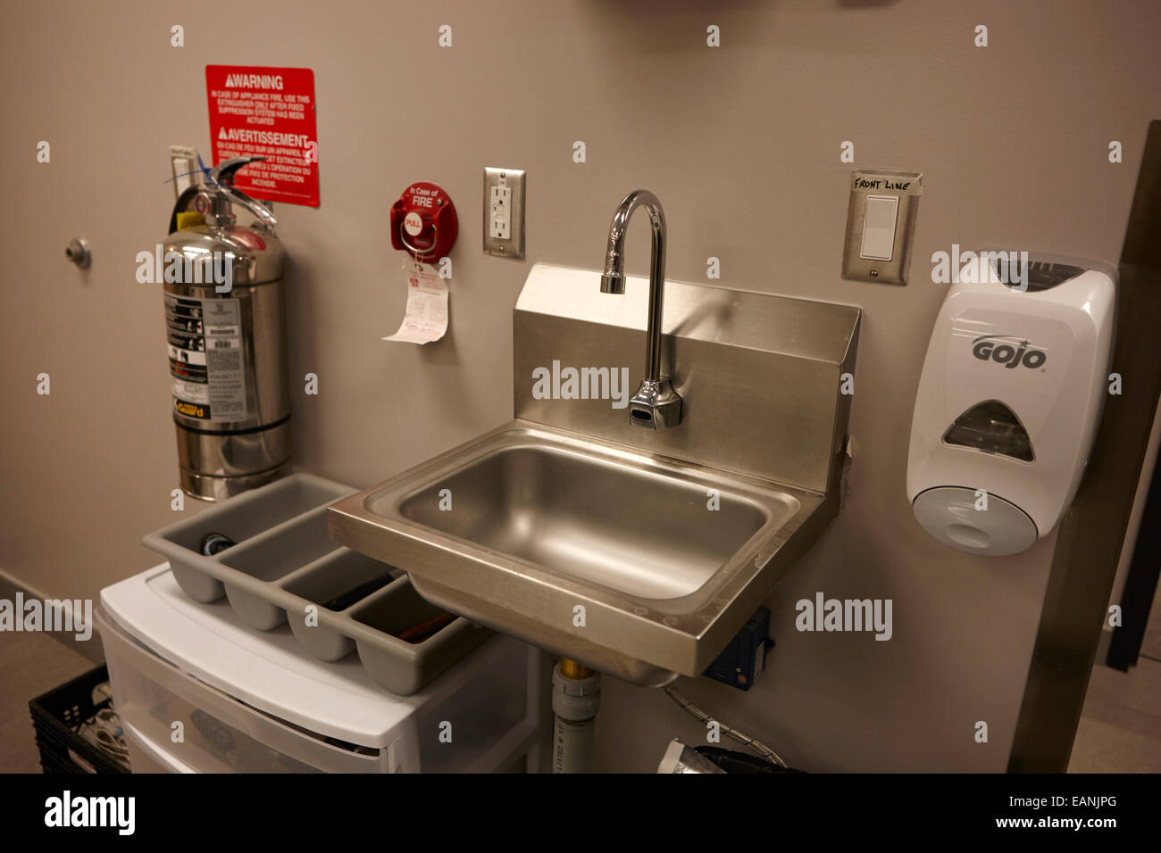 https www alamy com stock photo safe hygenic hand washing sink in a commercial kitchen in north america 75463768 html