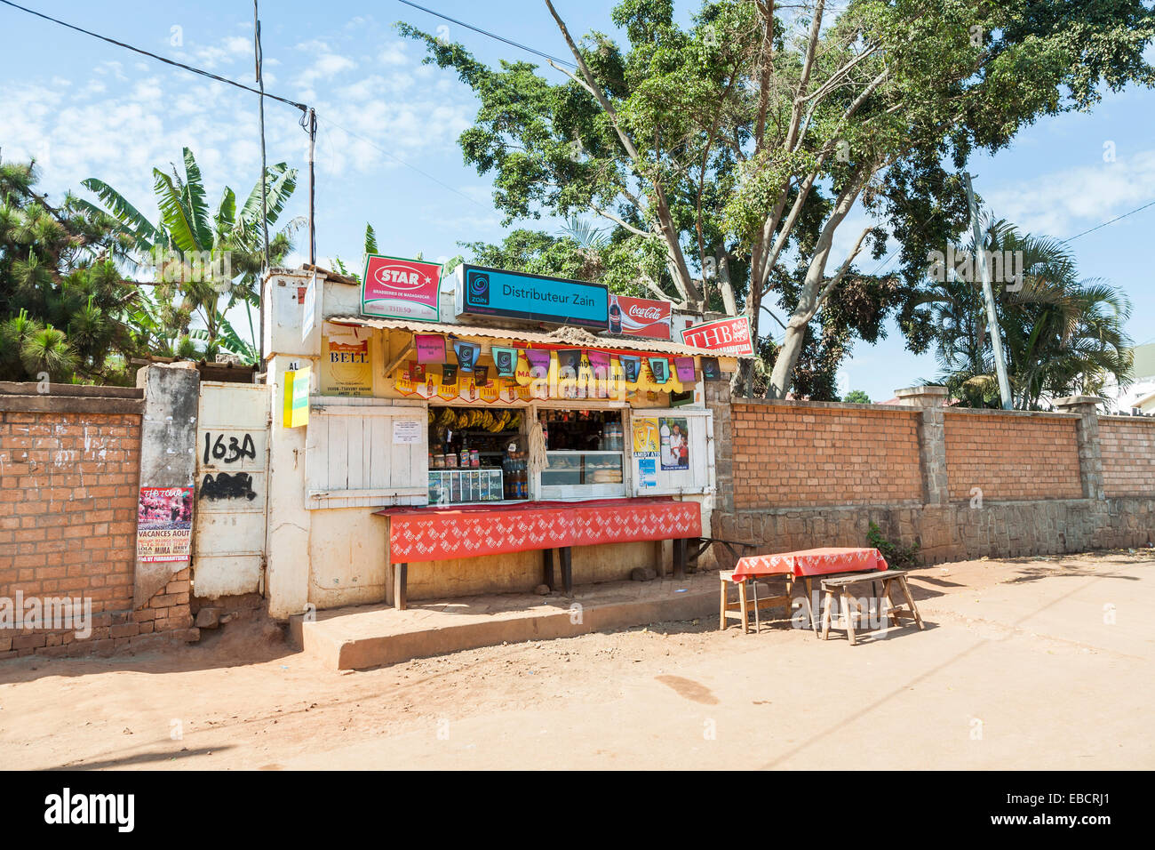https www alamy com stock photo small roadside snack bar and general grocery store with table and 75884649 html