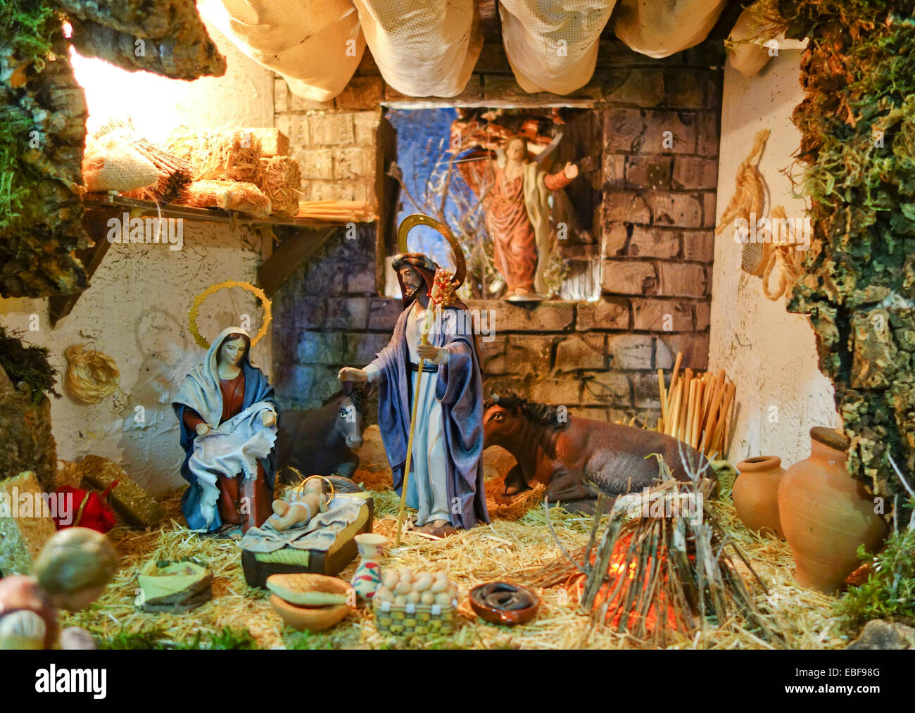 Nativity Scene Of A Belen Bethlehem Christmas Spain