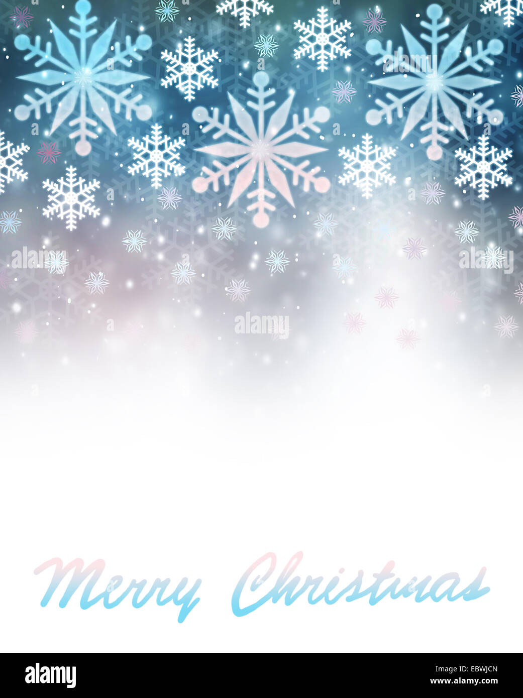 Merry Christmas Greeting Card Abstract Festive Border