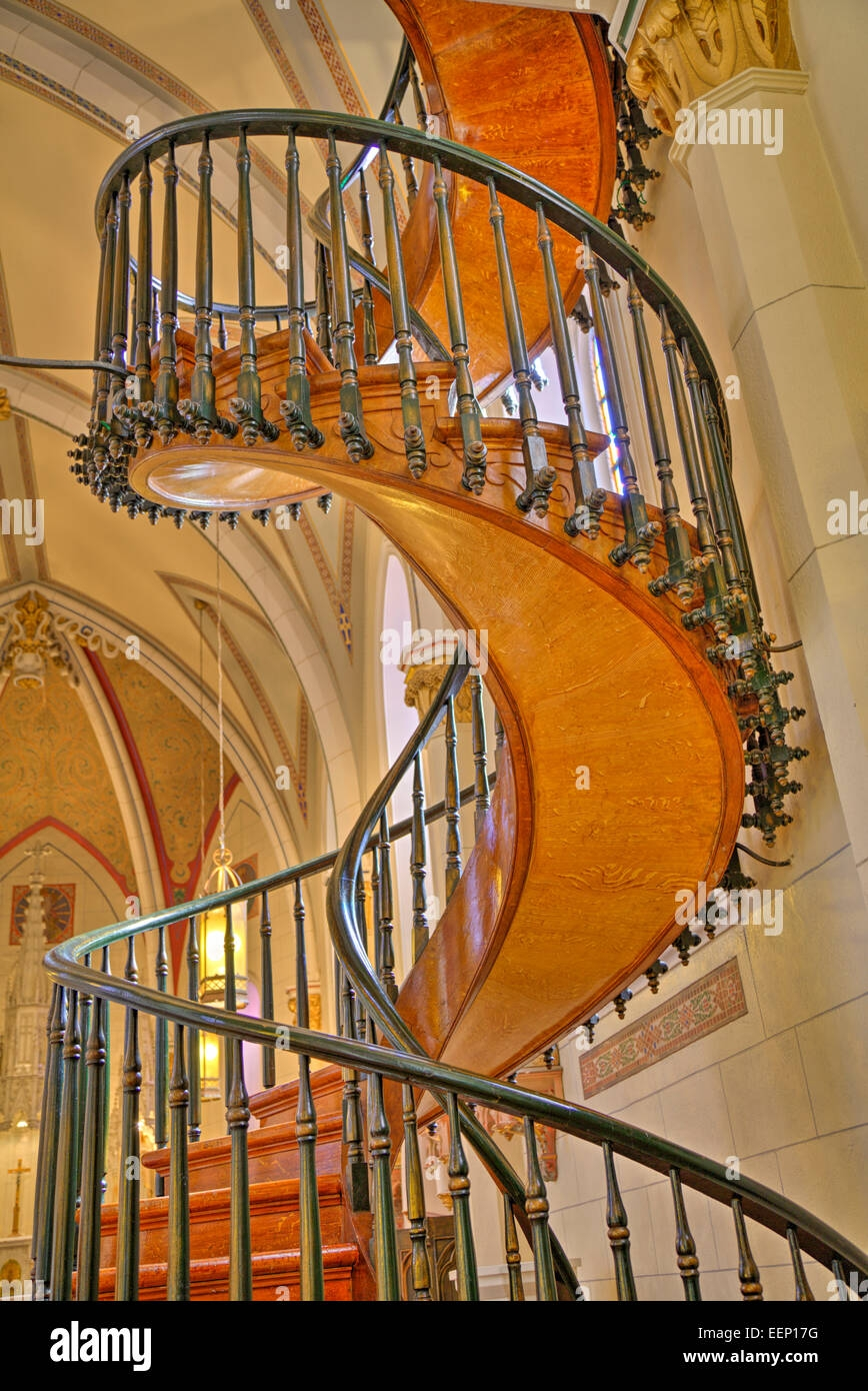 Loretto Chapel Spiral Staircase High Resolution Stock Photography | Spiral Staircase Loretto Chapel | St Joseph | Immaculate | Kentucky Sisters | Explained | Stairway