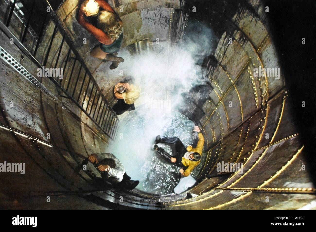 Sinking Ship Scene The Poseidon Adventure Stock