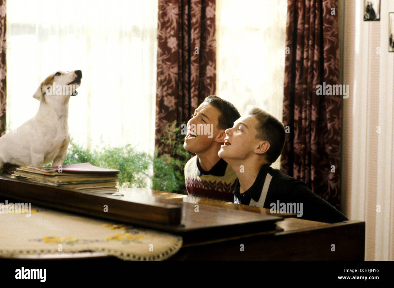 Image result for leonardo dicaprio playing piano in this boy's life