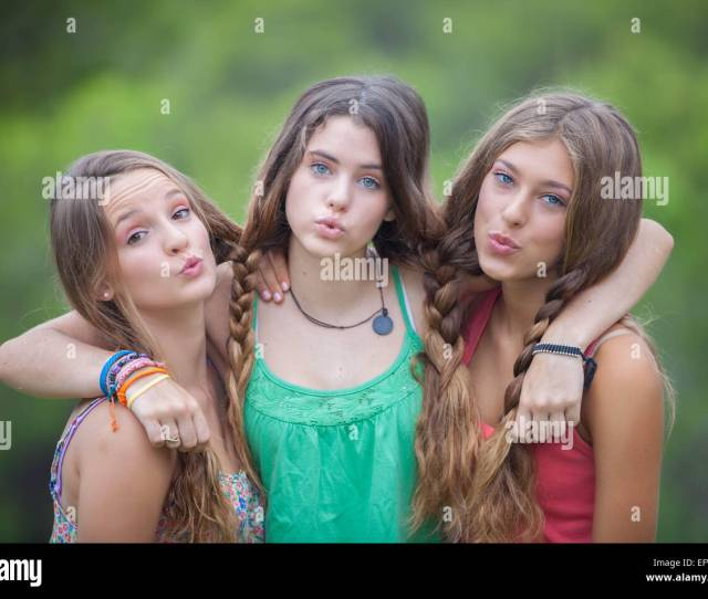 Group Of Healthy Teen Girls Stock Image
