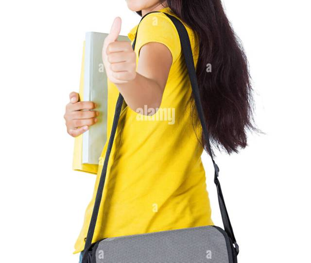 1 Indian Young Girl Teenager College Student Thumbs Up Showing Turning