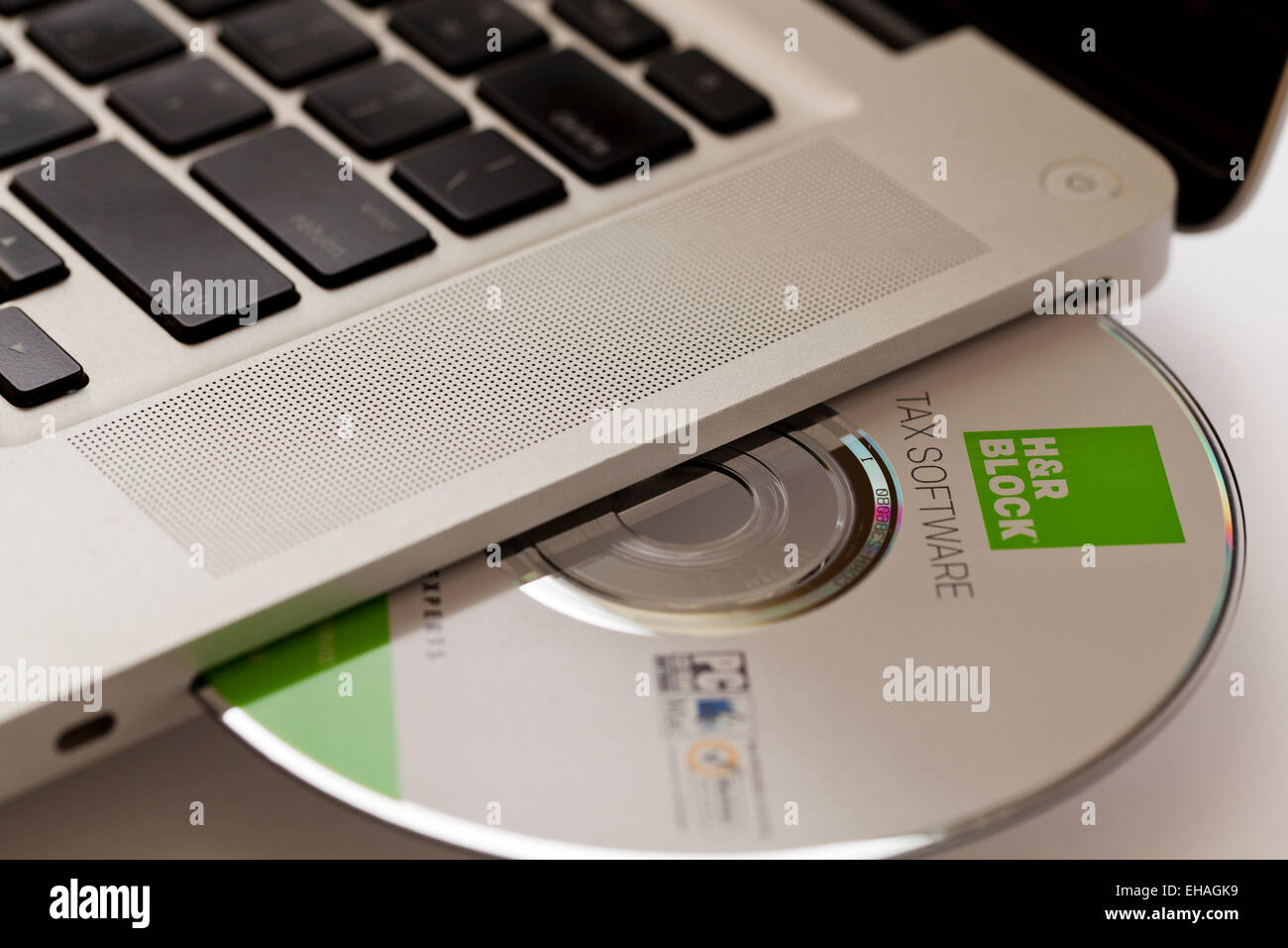 H Amp R Block Tax Software Disc In Laptop Computer