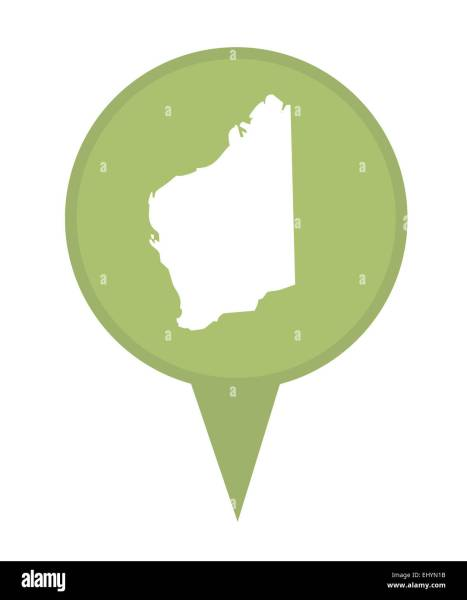 Western Australia Map Stock Photos   Western Australia Map Stock     Australia State of Western Australia map marker pin isolated on a white  background    Stock