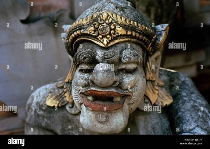 Temple Sculpture In Ubud In Bali In Indonesia In Southeast Asia Stock Photo Alamy