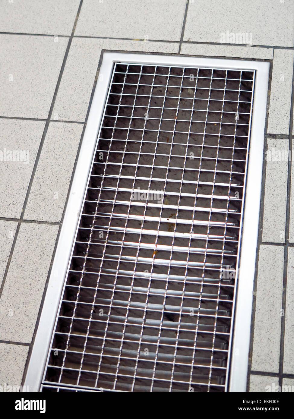 https www alamy com stock photo floor drain in commercial kitchen 80859422 html