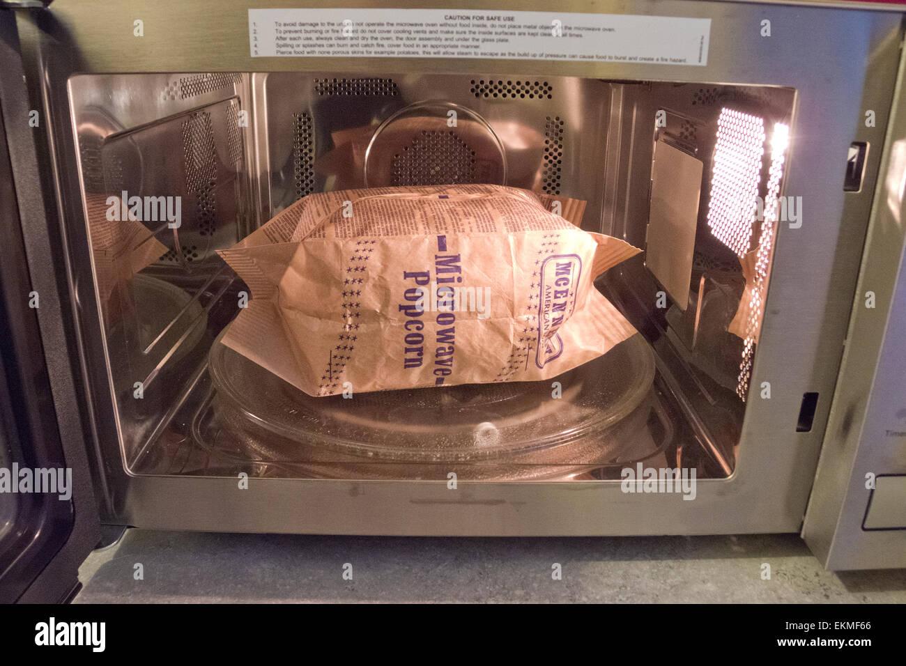 https www alamy com stock photo bag of microwave popcorn inside a microwave 80970910 html