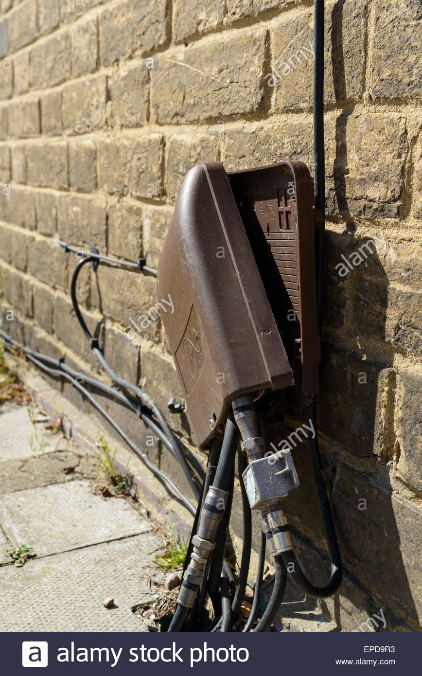 Damage Virgin Media Cable Service Box Salisbury