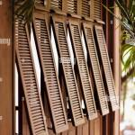 An Exterior Shot Of French Style Shutters At La Residence D