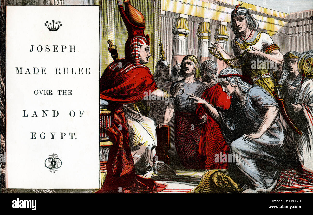 Genesis 41 Joseph Made Ruler Over The Land Of Egypt Consequence Stock Photo Royalty Free