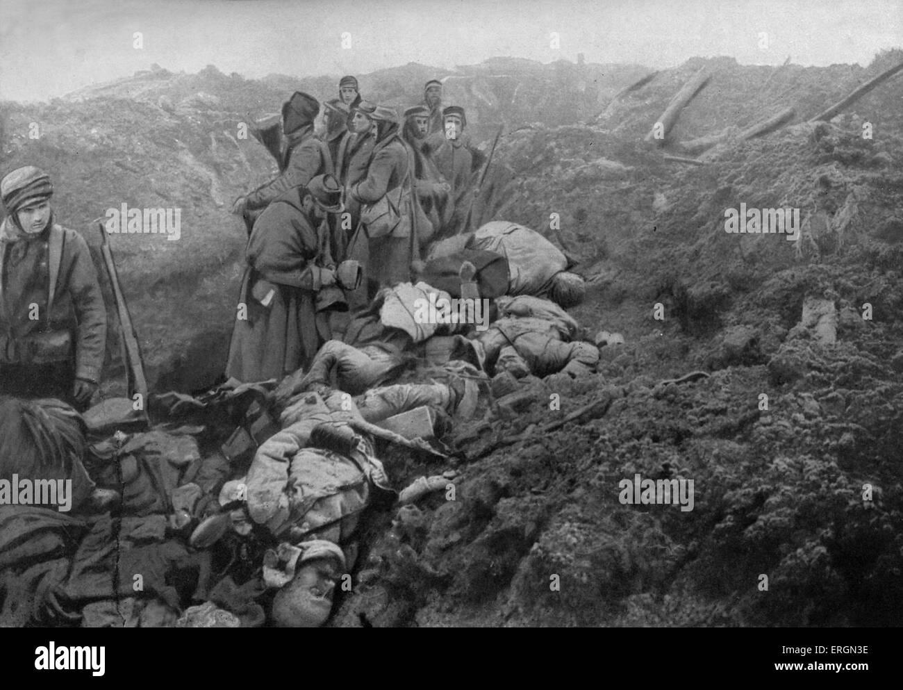 Wwi Captured German Trenches At Les Eparges Photo Shows