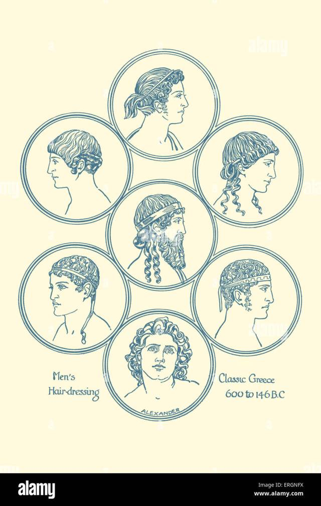 ancient greek hairstyles. example of men's hairdressing in