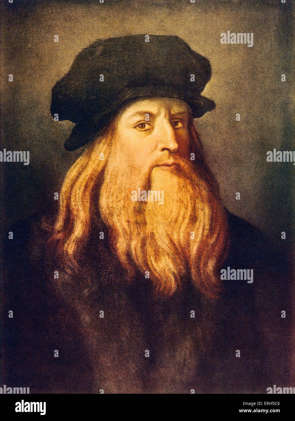 Leonardo Da Vinci Self Portrait Of The Italian Renaissance Painter Stock Photo Alamy