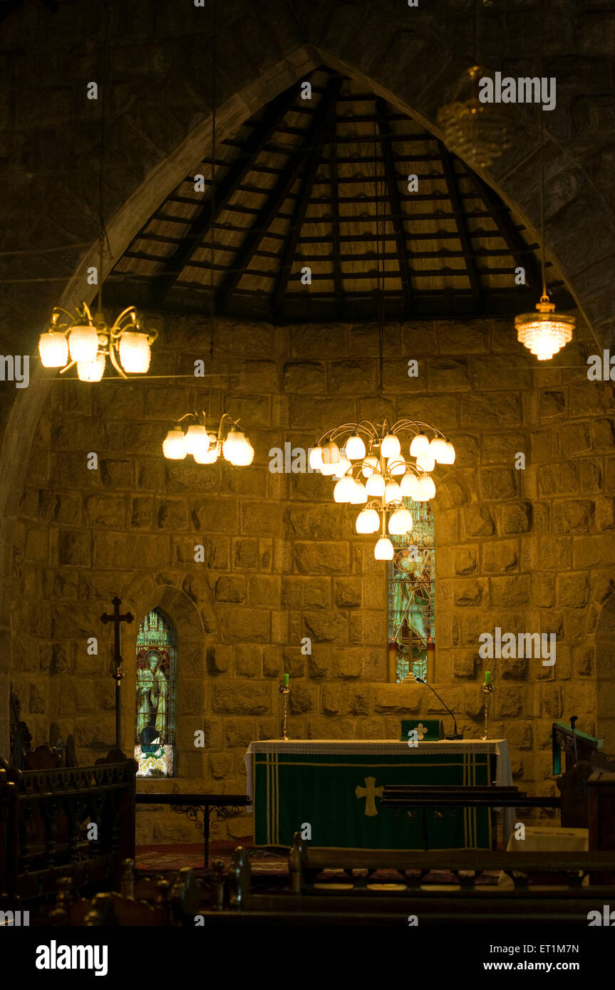 https www alamy com stock photo an interior of csi christ church with beautiful chandeliers and cross 83631065 html