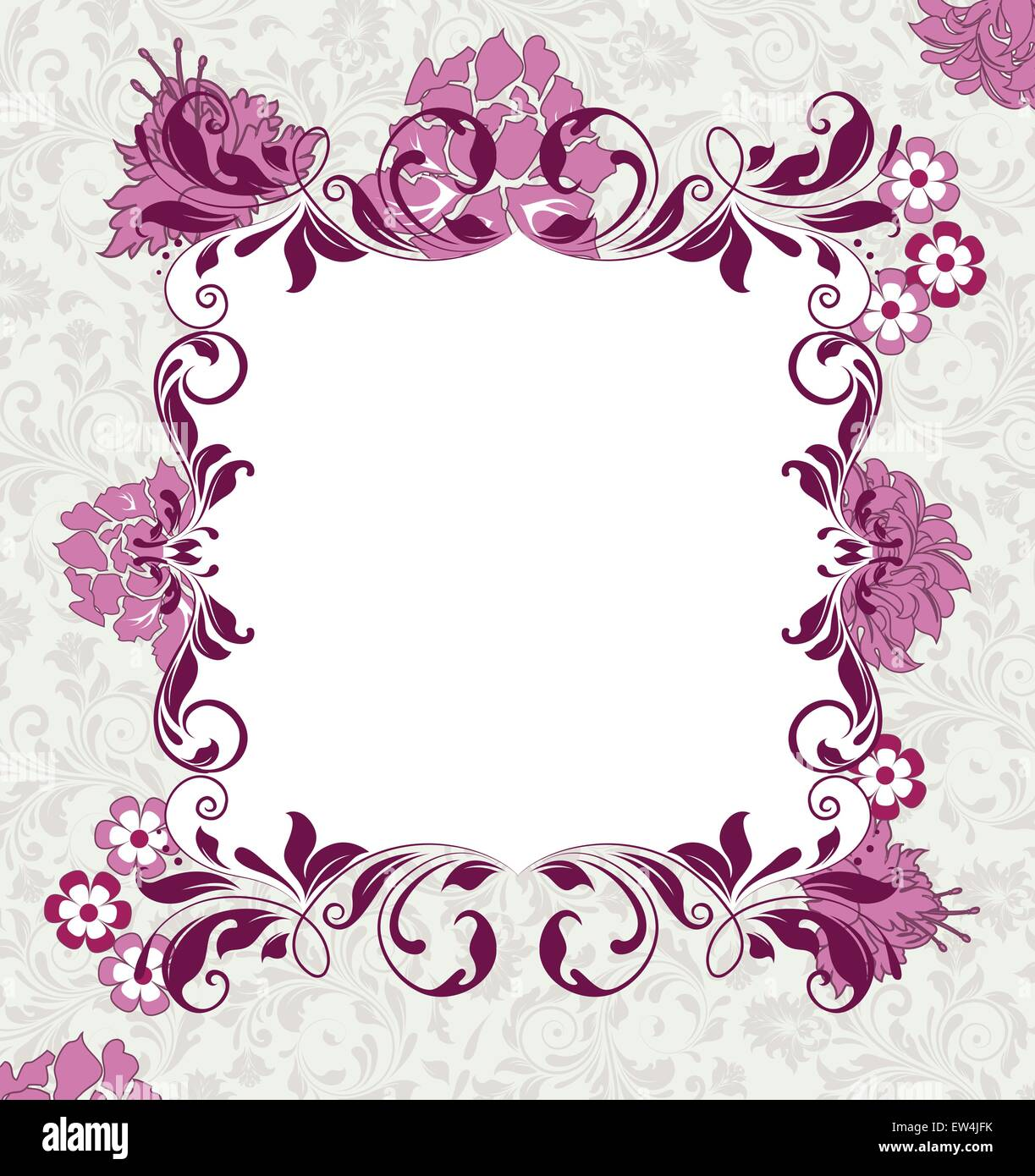https www alamy com stock photo vintage invitation card with ornate elegant abstract floral design 84310231 html