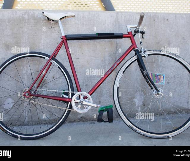 Fixed Gear Bicycle Used In Polo Matches Stock Image