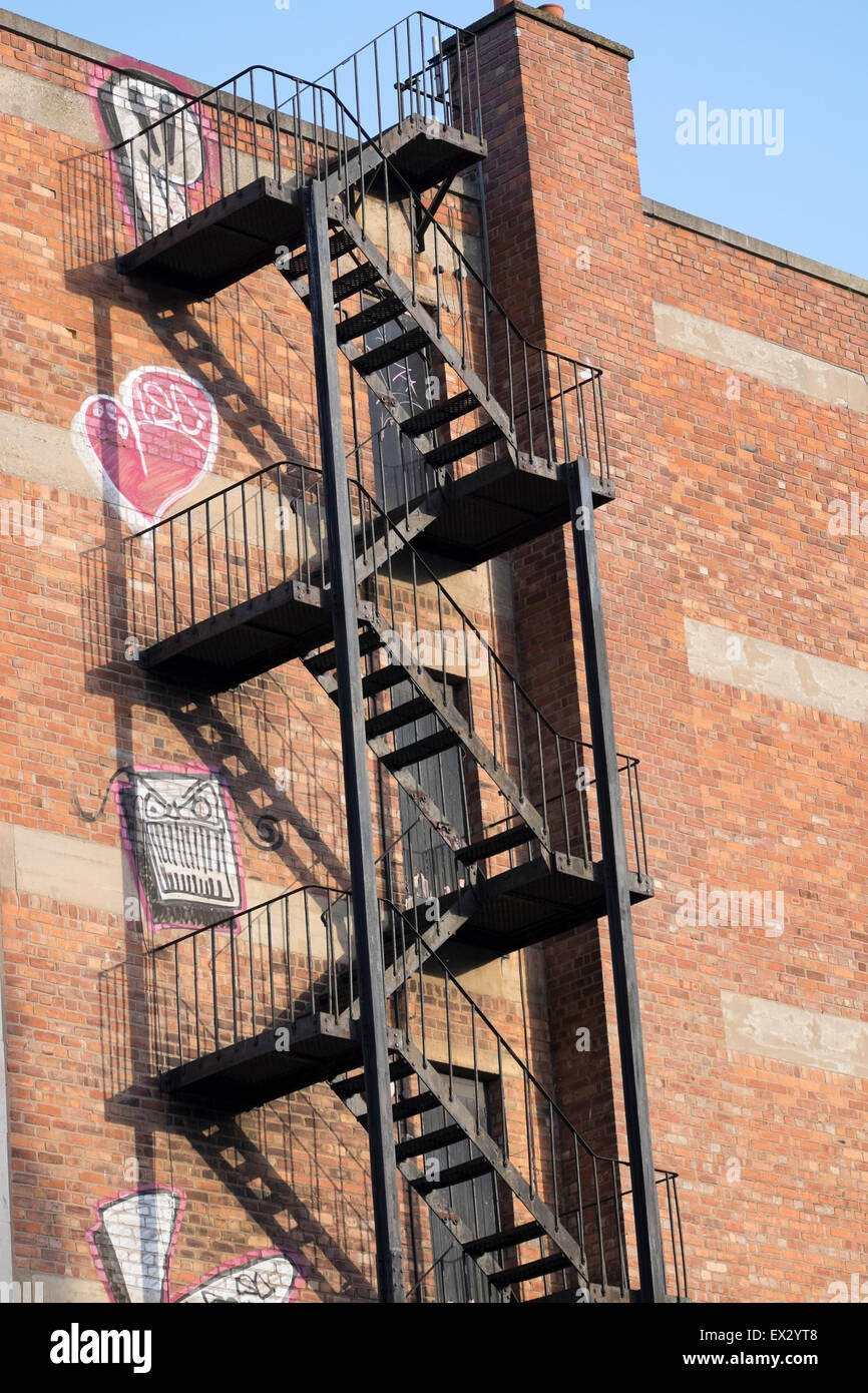 Steel Fire Escape Stairs Steps Safety Health Rescue Stock Photo   Steel Fire Escape Stairs   Architectural   Internal   Industrial   Emergency   Fire Exit