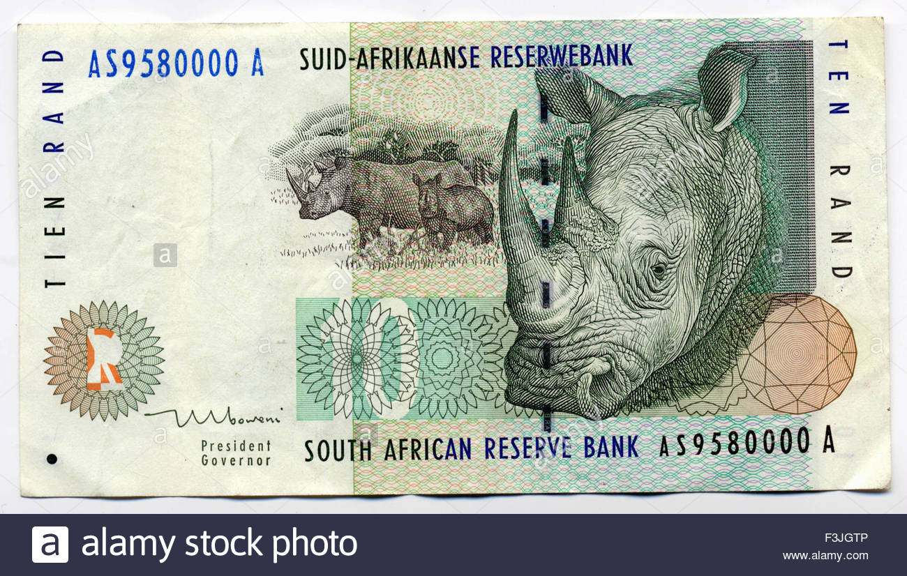 African Money South African Rand Cash Banknotes Stock