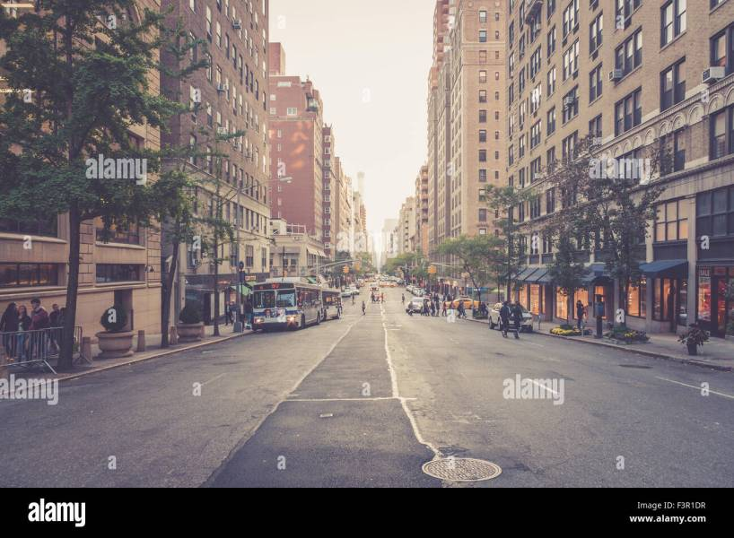 street view of Madison avenue  New York City  USA Stock Photo     street view of Madison avenue  New York City  USA