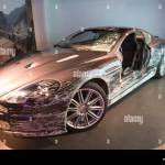 Damaged Aston Martin Dbs That Was Used In James Bond Casino Royale Stock Photo Alamy