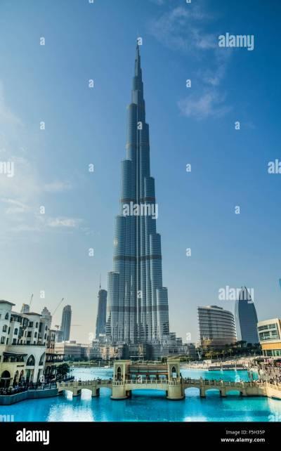 Dubai,The Burj Al Khalifa Tower Stock Photo, Royalty Free ...